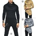 Men Fashion Irregular Knitted Sweater Slim Fit Jumper Pullover Blouse Tops Shirt