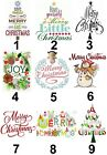 Merry Christmas Large Sticky White Paper Stickers Labels NEW