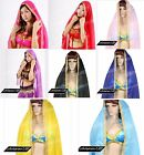 CHIFFON BELLY DANCE VEILS WITH GOLDEN LACE  0.7M * 2M
