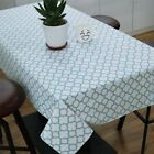 Table Cover Country Style Cloth Plaid Cotton Linen Decor Tablecloth Vinyl New