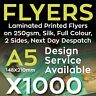 More images of 1000 Laminated Printed Flyers / Leaflets on 250gsm Silk, Full Colour-2 Sides