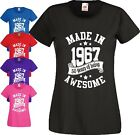 Made In 1967 Awesome T Shirt 50th Birthday Gift 50 Years 50s Vintage Ladies Top