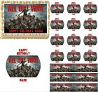 Walking Dead All Out War Edible Cake Topper Image Cupcakes Walking Dead Cake NEW