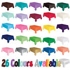 Solid Coloured Plastic Table covers Table Cloth, Party Catering Events Tableware