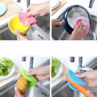 Silicone Dish Washing Sponge Scrubber Kitchen Cleaning antibacterial Tool New #x
