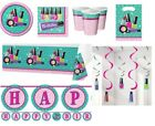 SPARKLE SPA! Birthday Party Girls Make-Up Pink Nails Tableware Plates Napkins