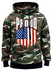 New Men's Proud USA Flag Camo Hoodie Sweater American Pride US Patriotic America