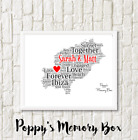 Ibiza Map Word Art Bespoke Engagement Wedding Anniversary Travel Print Gift