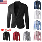 US Men's Casual Slim Fit Fashion Suits Blazer Business Coats Jacket Long Sleeve