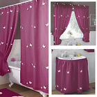 Butterfly Voile Embroidered Bathroom Shower Curtains, Curtain Sets, Sink Skirts