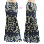 Floral Boho Sublimation long maxi skirt (S/M/L/XL/1XL/2XL/3XL)