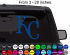 KANSAS CITY ROYALS decal sticker for car, laptop,yeti CHOOSE COLOR die cut vinyl on Ebay