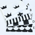 160*50CM black Cotton Fabric Patchwork Baby infant doll cloth Sewing tissue
