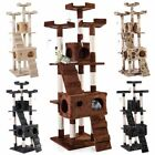 "67"" Cat Tree Bell-tower Condo Furniture Scratching Post Pet Kitty Play House"