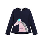 Joules Girls T-Shirt Navy Sequin Horse YngAvaLuxe