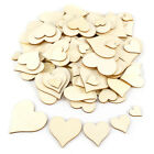 Wooden Heart Slices Embellishments Card Craft Hanging Tags DIY Wedding 40-120mm