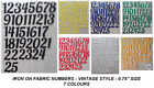 """ADVENT IRON ON DIE CUT FABRIC ( VINTAGE ) NUMBERS ! 1-25! 0.75"""" Crafts/Christmas"""