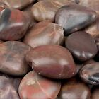 Red Unique Decorative Polished Natural River Rock Pebble Garden Stepping Stones
