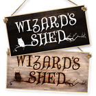 "WITCHCRAFT AND WIZARDRY HANGING SIGN ""WIZARD'S SHED"" dark or light"