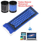 Mini Wireless Bluetooth Silicone Foldable Keyboard For iPhone Laptop Notebook