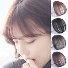 US- Women Human Hair Clip in Fringe Light Breathable Air Bangs Front Hairpiece