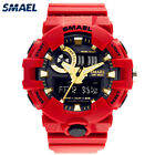 SMAEL Men Sport Watches Rubber Strap Digital LED Electronic Military Wristwatch image