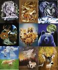 Wildlife Fleece Throw Blanket Wolf, Bears, Dolphins, Horses, Eagle, Cats, Animal