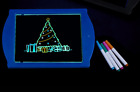 Neon LED Glow Art Pad with Pens Various Colours Perfect Xmas Gift - Brand New!