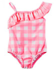 Carter's Baby Girls' Gingham Swimsuit, Pink