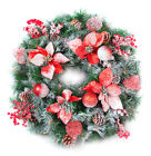 Best Artificial 60cm Frosted Red Decorated Christmas Wreath Outdoor LED Lights