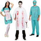 ADULTS ZOMBIE MAD BLOODY SURGEON HALLOWEEN FANCY PARTY DRESS GREEN COSTUME
