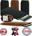 NICE SLIM CASE COVER HANDMADE OF GENUINE LEATHER POCKET SLEEVE POUCH FOR PHONES
