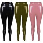 New Shiny Vinyl Faux Patent Leather Stretch Leggings Wet Look PVC PU Trousers
