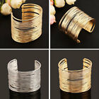 1pc Multi Layers Gold Color Wire Cuff Bracelet Armlet Arm Cuff Women Accessory