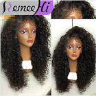 Hot 7A Brazilian Human Hair Wig Soft Kinky Curly Front Lace Wig With Baby Hair