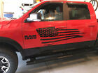 Distressed Flag Decal Side body Fits Truck Dodge Ram Ford F150  American $69.99 USD on eBay