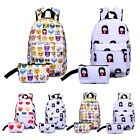 2 Pcs Set Emoji Smiley Faces Backpack Pencil Makeup Case Fun