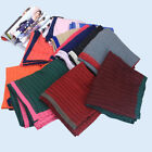 Women Cotton Scarf Patchwork Color Wrinkle Crinkle Turban Muslim Hijab Scarf