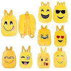 Emoji Smiley Faces Mini Backpack For Girls Boys Funny Yellow