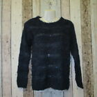 Bravesoul Ladies Fluffy Jumper, Navy, Size 8 (2852230 loc 252/253) C