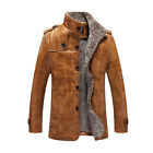 Men+Coats+Brand+High+Quality+PU+Outerwear+Business+Winter+Faux+Fur+Male+Jacket