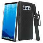 Samsung Galaxy Note Phone Models, Rugged Holster Combo [Kickstand] + Belt Clip