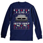 1973-1987 Chevy C10 - SQUARE BODY - Christmas Sweater Style LONG SLEEVE T-Shirt