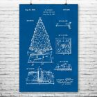 Christmas Tree Rotating Base Poster Print Vintage Christmas Happy Holidays