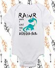 Rawr means I love you in Dinosaur - Funny Baby onepiece- Gender Neutral Clothes