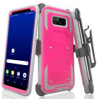 Samsung Galaxy S8  S8  Plus  Rugged Holster Shell Combo Belt Clip Case Cover