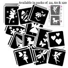 FAIRY themed GLITTER TATTOO STENCIL PACK for Glitter Body Art and Ink Tattoos