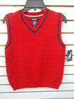 Boys Nautica $42.50 Red Sweater Vest Size 8 - 18/20