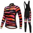 Color Zebra Women's Bicycle Clothes Kit Long Sleeve Jersey and (Bib) Pants Set
