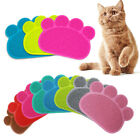 Paw Print Dog Cat Litter Mat Pet Puppy Dish Feed Bowl Tray Tidy Easy Cleaning
